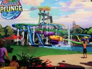 tropical plunge rendering